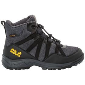 Jack Wolfskin Thunderbolt Texapore Mid-Cut Schuhe Kinder black/dark grey
